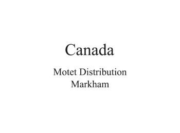 Canada Distributor