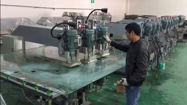 GJ3 glass drilling machine-Working with big glass sheet
