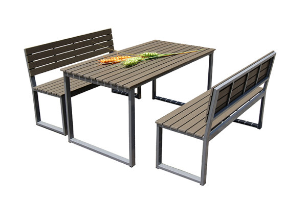 Garden furniture aluminum patio bench table and chair