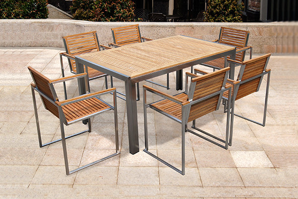 outdoor garden furniture teak table set