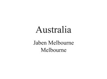 Australia Distributor