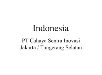 Indonesia Distributor