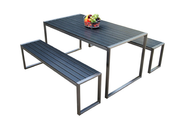 Outdoor garden furniture aluminum patio bench sets