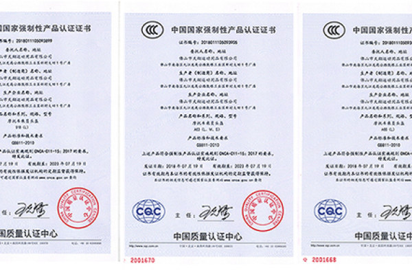 Awarded the 3C certification standards