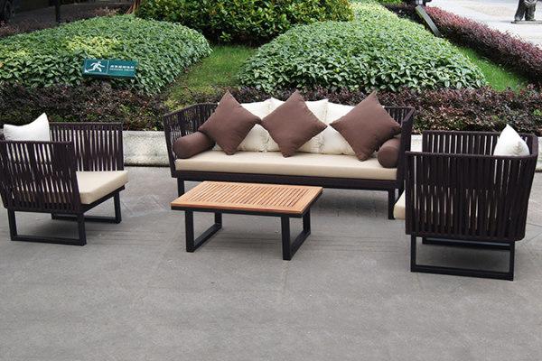New design garden rope sofa set