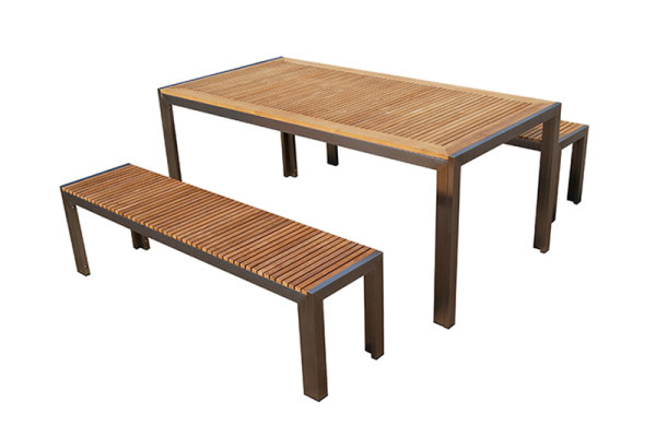 stainless steel teak garden bench wood park bench
